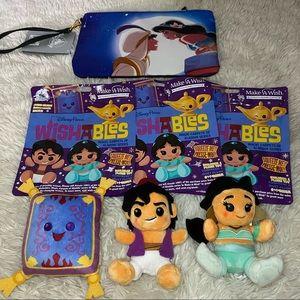 Disney Parks Aladdin Wishables and Wristlet